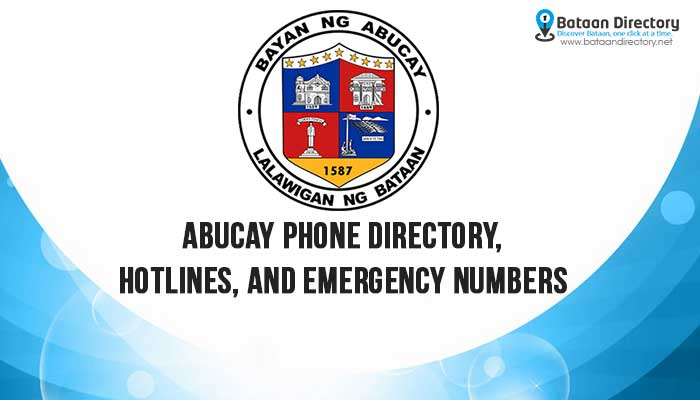 Abucay Phone Directory Hotlines Emergency Numbers